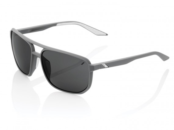 100% Konnor Aviator square-Smoke Lens
